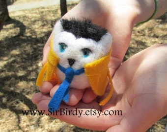 Ready to ship Castiel Supernatural owl large castieowl needle felted plush doll free shipping custom supernatural doll castie-owl fandom