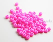50 Grams Czech Rocailles Perciosa 6/0  Seed Beads - Opaque Hot Pink -Size 6 (PS43101)