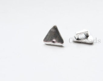 30pcs Oxidized Silver Tone Base Metal Spacer - Triangle 11x5mm (14913Y-P-294)