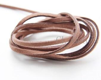 5 meters of Faux Suede - Brown 2.5mm