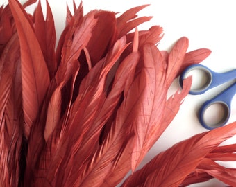 COQUE Tail Feathers  Loose / Brick Red /  208