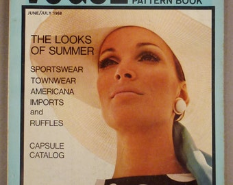 Vintage VOGUE Pattern Book Fashion APRIL MAY 1968 Rare great Condition