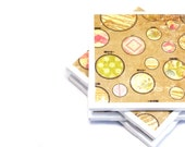 Coasters - Embroidery Hoops - Set of 4 Tile Coasters