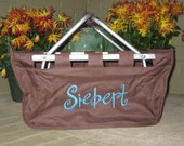 Personalized Collapsible Market Tote Basket