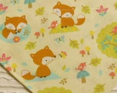 Dog Bandana with Baby Foxes Sizes XS to XL in Over Dog Collar Style