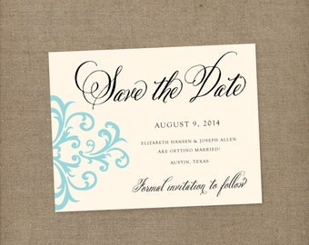 Save the date, wedding invitations, Damask wedding invitations, damask save the dates, vintage wedding invitations, Vintage save the dates
