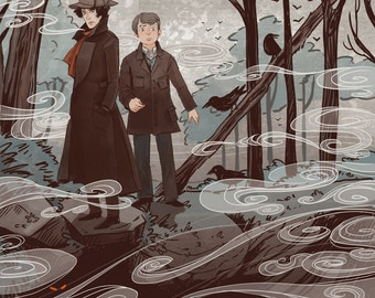 Hound of The Baskervilles Literary Poster 12x18 in