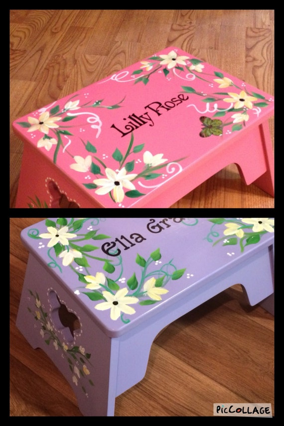 Painted Step Stool Child S Step Stool By