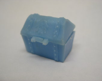 Treasure Chest Blue Toy Plastic Pirate