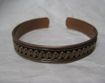 Copper Bracelet Cuff Vintage