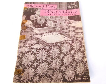 Vintage 1940's Coats and Clark Old and New Favorites Crochet Pattern Booklet Pamphlet