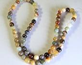 DESTASH SALE Beads Antique Soocho Jade 6mm Smooth Round 16 Inch Strand New