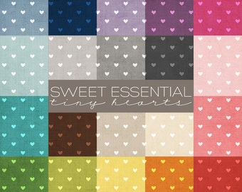 Sweet Essential Tiny Hearts Digital Paper Collection - 20 Digital Paper Designs - Great for Scrapbooking for Photographers - PE8011