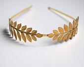 Gold Plated Leafy Headband