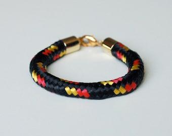 Black Bungee Cord Bracelet