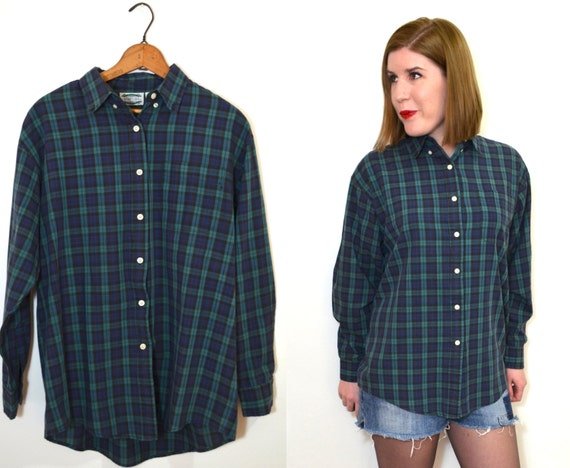 blue and green plaid shirt womens button up shirt plaid