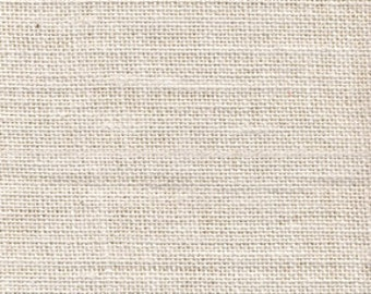 iVORY Burlap Fabric By the Yard - 58 - 60 inches wide