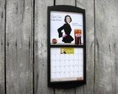 "12"" x 24"" Calendar Frame Wood Frame Calendar Holder in Wood Classic Black medium size Made in America"