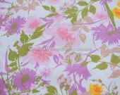 Bright Blooming Garden  - Vintage Fabric New Old Stock Summer Cottage Wildflowers