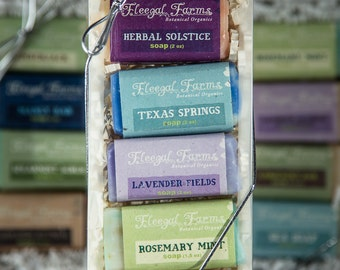 Gift Set of 4 Mini Soap Bars/ Natural/ Vegan/ Cold Process/ Handmade/ Gift/ Sampler/ 1