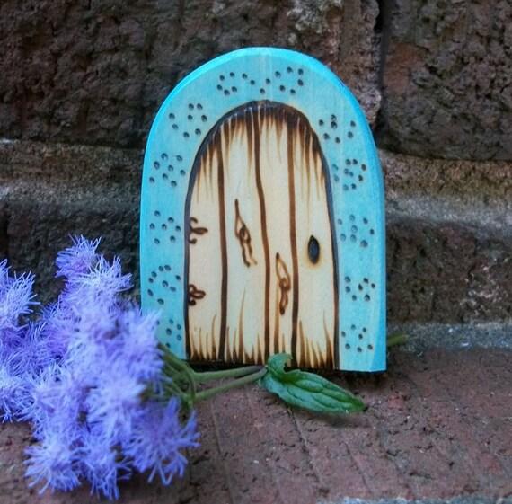 Items similar to wood fairy door magnet 2 1 2 inch magic for Wooden fairy doors that open