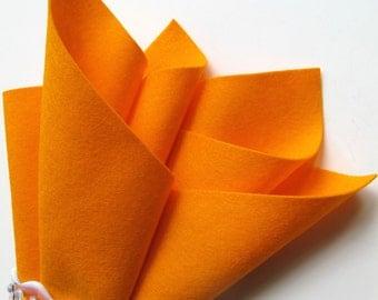 Goldfish, 100% Wool, Pure Merino Felt, Orange, DIY Craft Felt, Sewing Fabric, Wool Applique, Felt Toys, Waldorf Handcrafts, Nonwoven Wool