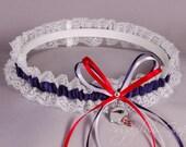 New England Patriots Lace Wedding Garter