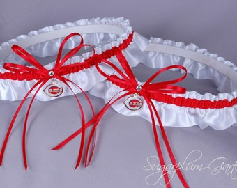 Cincinnati Reds Wedding Garter Set