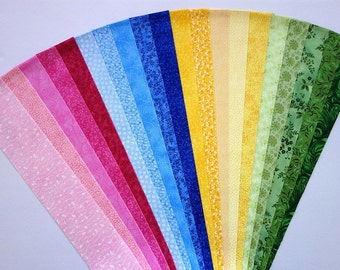 Fabric PBYG Cotton Jelly Roll Quilting Strip Pack Material Die Cut 20 Strips No Dups (sku JR120-PBYGbd)