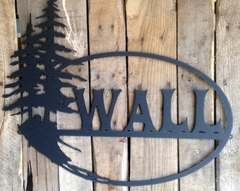 Custom Metal Tree Sign 3 (J8)