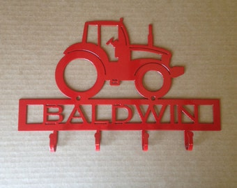 Metal Tractor Key Holder With Personalized Text Field (G17)