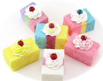 """Candy Land Inspired """"Ice Cream Float Cake Ornaments"""" Your Choice of (6) Original Design by 12 Legs Candy Land Party Decor Fake Tea Cake"""