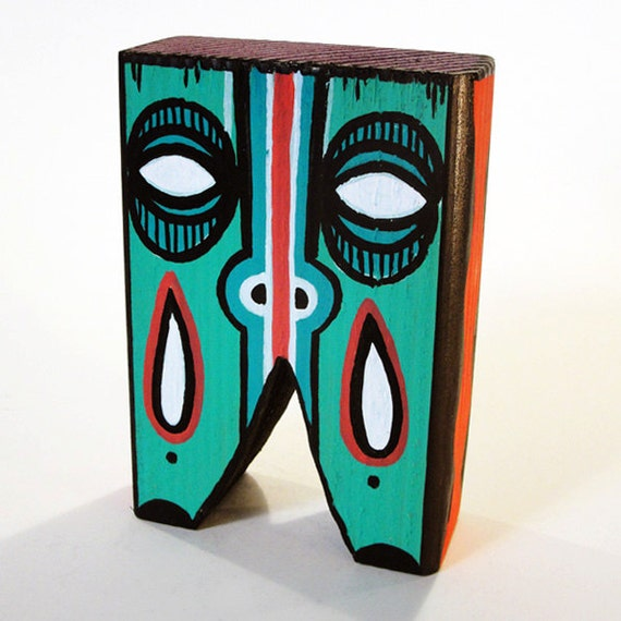 Funk Totem Part No. 134 - Original Mixed Media Art Block - Vol. 5
