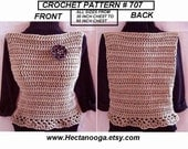 Crochet Vest or Summer Tank Top - crochet pattern - women's and girls clothing, 30 - 60 inch chest sizes - #707 pdf digital download