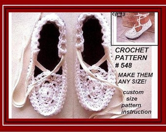 Women's Espadrille soft shoes or slippers, SLIPPER Crochet Pattern for Womens House Slippers -#548 - Instant Download