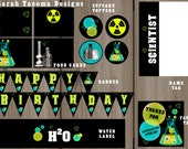 Crazy Science Scientist Laboratory Experiments or Spooky Cocktail Halloween Birthday Party - Complete Collection  - INSTANT DOWNLOAD