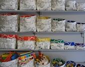 Rainbow Fabric Storage Baskets