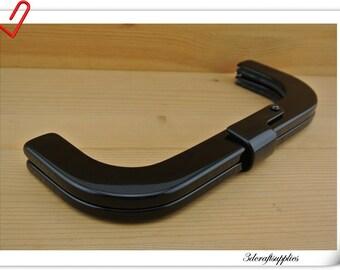 Black Resin purse frame Clutch frame bag frame  25.5cm x 10cm (10 inch x 4 inch )  M73