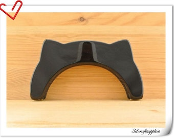 16cm x 8.5cm  6.25  inch black cat Resin purse frame  Acrylic purse frame M86