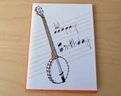 Banjo - birthday card