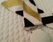 black/gold SAINTS, UCF baby binkie minder