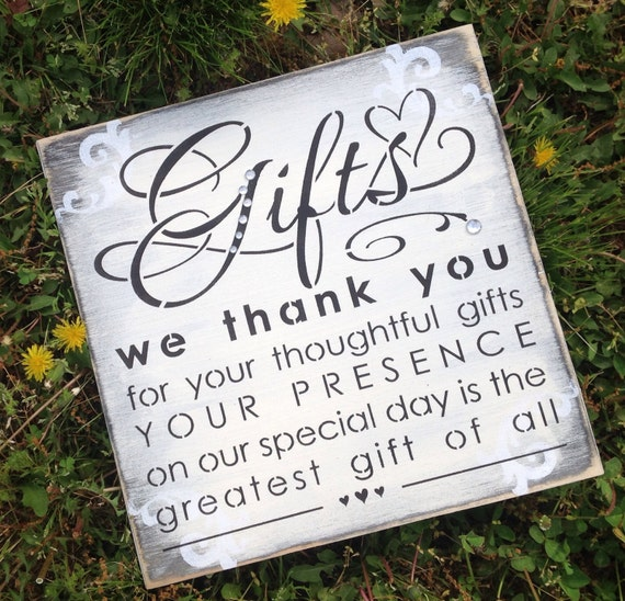Wedding Gift Table Sign