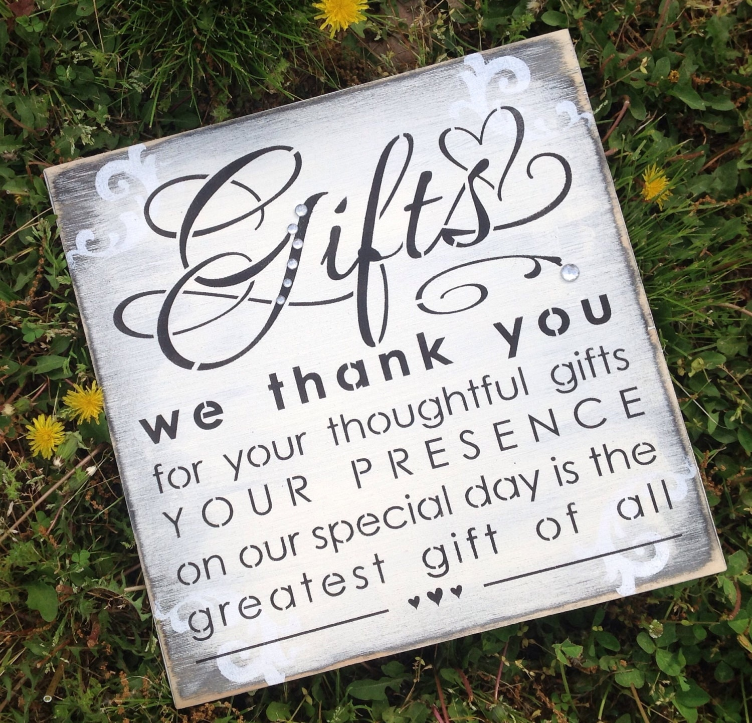 Wedding gift table sign for What to give as a wedding gift