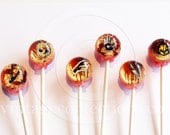 3D serial killer Lollipops by Vintage Confections