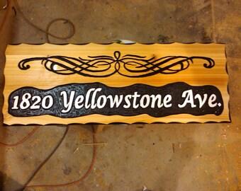 9x30 Personalized cedar sign