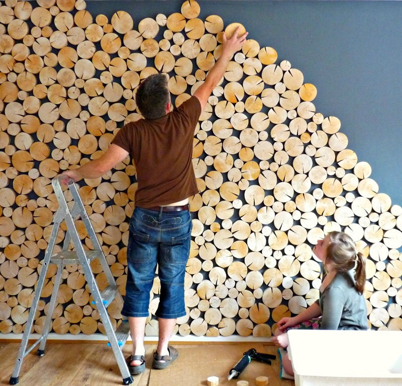 Feature Log Walls And Wall Panels Decorative Log By