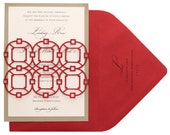 Christmas Fretwork Invitations