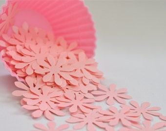 100 Pieces--Mountain Rose Daisy Flower Confetti. Wedding Party. Baby Shower. Embellishments. Die Cuts. Punched Confetti (100)