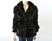 JEAN French Vintage 50s Dark Brown Fur Jacket/Coat