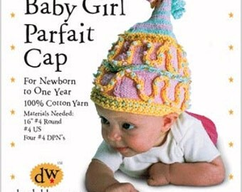 Knitting Kit/Baby Girl Hat/Newborn Girl Hat/Debby Ware Pattern/Knitting pattern/Knitting kit/newborn baby hat/baby girl cap/newborn cap knit